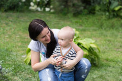Mutter mit Jungen Lizenzfreies Stockbild