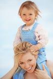 Mutter mit Kind Stockbild