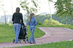 Mutter mit Kindern Stockfoto
