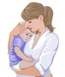 Mutter mit kleinem Kind Lizenzfreie Stockfotos