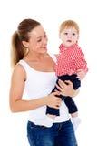 Mutter mit kleinem Schätzchen Lizenzfreie Stockfotografie