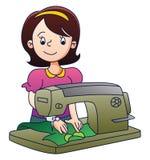Mutter mit Nähmaschine Lizenzfreie Stockbilder