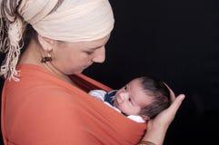 Mutter mit neugeborenem Lizenzfreies Stockbild
