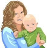 Mutter mit Schätzchen Lizenzfreies Stockbild