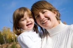 Mutter mit Tochter Stockbild