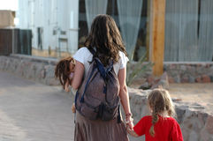 Mutter mit Tochter Stockfotos