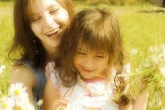Mutter mit Tochter Stockfotografie