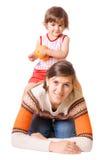 Mutter mit Tochter Stockfoto