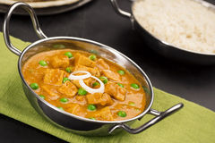 Mutter Paneer, Fresh Cheese Cooked in a Spicy Tomato Sauce Royalty Free Stock Photos