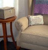 Mutter ` s leerer Stuhl Ein spezielles peson saß hier einmal Lizenzfreie Stockfotografie