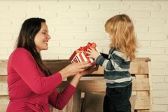 Mutter`s Liebe Geburtstagsfeiertag und -26. Dezember Lizenzfreies Stockfoto