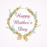 Mutter ` s Tagesdesign mit Blumen winden Internationale Frauen ` s Tageskarte Auch im corel abgehobenen Betrag Kritzeln Sie Art lizenzfreie abbildung