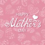 Mutter ` s Tagestypografischer Hintergrund Stockbild