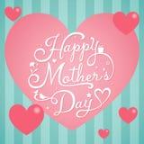 Mutter-Tag auf rosa Herzen Stockfotos