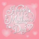 Mutter-Tag auf rosa Hintergrund Lizenzfreies Stockfoto