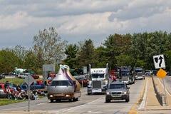 Mutter-Tages-LKW-Konvoi in Lancaster Pennsylvania lizenzfreie stockbilder