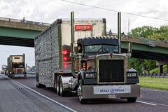Mutter-Tages-LKW-Konvoi in Lancaster Pennsylvania stockfotos