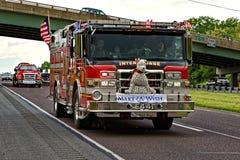 Mutter-Tages-LKW-Konvoi in Lancaster Pennsylvania stockbilder