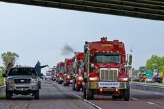 Mutter-Tages-LKW-Konvoi in Lancaster Pennsylvania stockbild