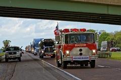 Mutter-Tages-LKW-Konvoi in Lancaster Pennsylvania stockfotografie