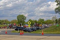 Mutter-Tages-LKW-Konvoi in Lancaster Pennsylvania stockfoto