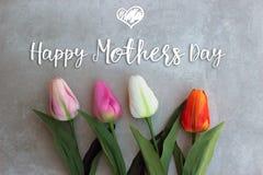 Mutter-Tagesfeier-Karte Stockfotografie