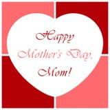 Mutter-Tagesgrußkarte mit Herzen Lizenzfreies Stockfoto