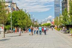 Mutter Teresa Straße in Pristina Lizenzfreie Stockfotografie