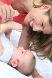 Mutter und Baby Stockfotos