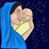 Mutter und Baby lizenzfreie stockfotos