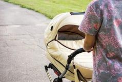 Mutter und Baby auf dem Weg Lizenzfreies Stockbild