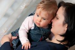 Mutter- und Babyportrait Lizenzfreie Stockbilder