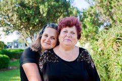 Mutter und die Tochter Stockbild