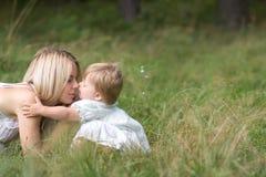 Mutter und doughter Stockbild