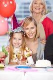 Mutter- und Großmutterfeiern Stockfoto