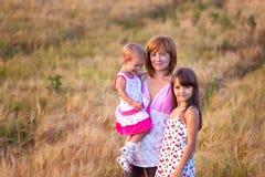 Mutter und ihre reizende Tochter zwei Lizenzfreie Stockfotografie