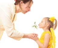 Mutter und Kind. Stockfoto