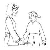 Mutter und Kind lizenzfreie abbildung