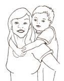 Mutter und Kind Lizenzfreie Stockbilder