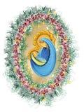 Mutter und Kind, gesegnete Jungfrau Maria mit heiliger Familie Babyjesuss Stockbilder