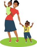 Mutter und Kinder stock abbildung