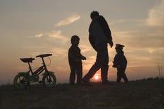 Mutter und Kinder Stockfoto