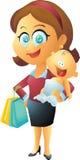 Mutter-und Kindereinkaufen Lizenzfreie Stockfotos