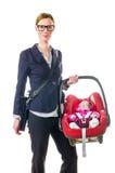 Mutter und Kindersitz Stockfoto