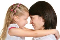 Mutter und kleines Mädchen Lizenzfreies Stockbild