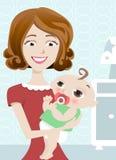 Mutter und Schätzchen lizenzfreie abbildung