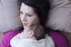 Mutter- und Schätzchensohn Lizenzfreies Stockbild