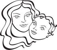 Mutter und Schätzchen Lizenzfreies Stockbild