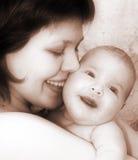 Mutter und Schätzchen Stockbilder