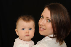 Mutter und Schätzchen Lizenzfreie Stockfotos
